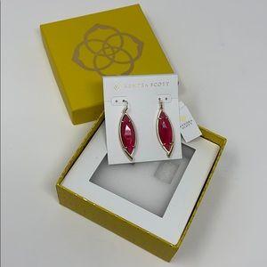 Kendra Scott Maxwell Earrings Berry Glass Gold